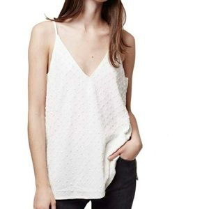 NEW Topshop Textured V-Neck Camisole